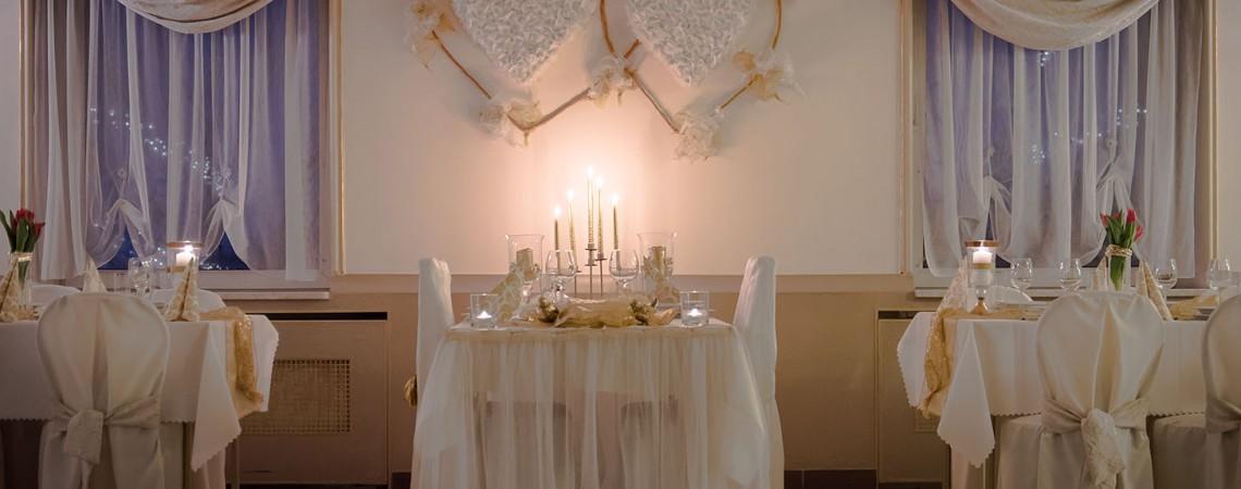 stół dla pary młodej
